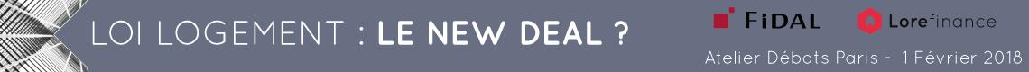 Atelier-débats Loi logement : Le New Deal