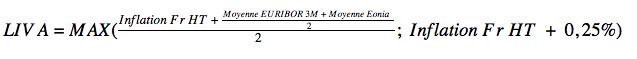 Formule de calcul du taux de Livret A en 2008